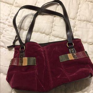 Relic maroon corduroy purse